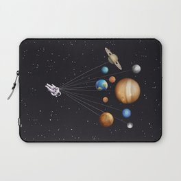 Space astronaut art print Laptop Sleeve