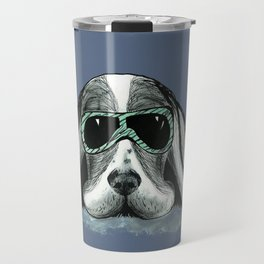 Cool Basset Hound Travel Mug