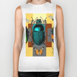 BUGGY INSECT LOVERS ART Biker Tank