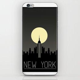 New York - Skyline Silhouette iPhone Skin
