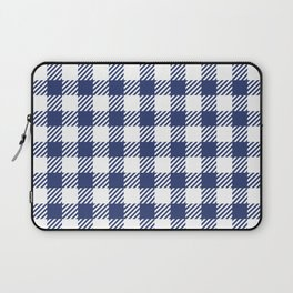 Blue Vichy Laptop Sleeve