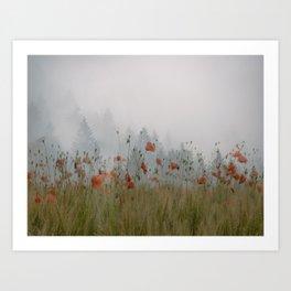 Pines and Poppies #nature #buyart Art Print