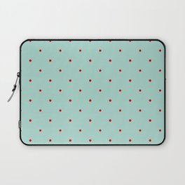 Blue with Red Dots Laptop Sleeve