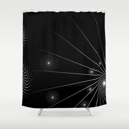 black and white (I) Shower Curtain