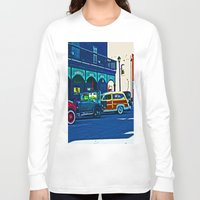 cars Long Sleeve T-shirts featuring Vintage Cars by Joseph Coulombe