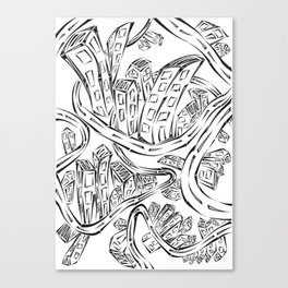 Entangled City Canvas Print