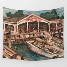 """Marina at Western Bay"" Kelley's Island, Ohio Painting Wall Tapestry"