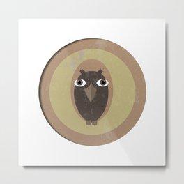 New Wood Owl Metal Print