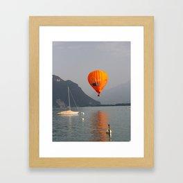 Boats & Balloon Framed Art Print