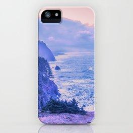 Oregon Coast Sunrise in Rose Quartz & Serenity iPhone Case