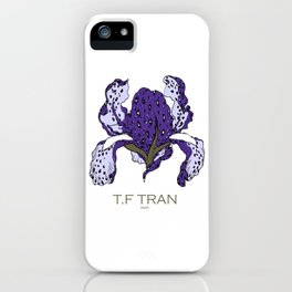 T.F TRAN PURPLE LEOPARD IRIS iPhone Case