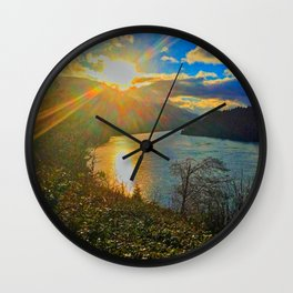 Columbia River Gorge, Sunset Wall Clock