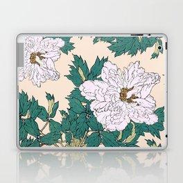 White Peonies Laptop & iPad Skin