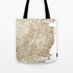 Hoboken New Jersey city map Tote Bag