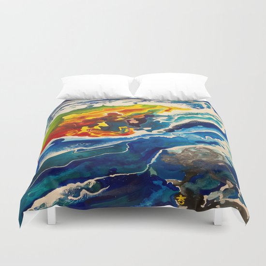 Deep Sea Rainbow Duvet Cover