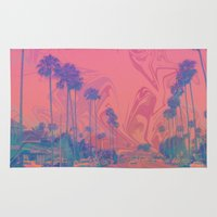 california Area & Throw Rugs featuring California by Cale potts Art