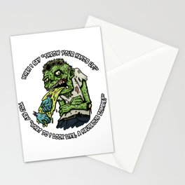 Zombie Hands Stationery Cards