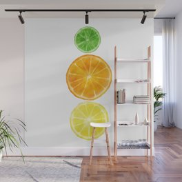 Squeeze the day! Citrus art featuring oranges, lemons, and limes Wall Mural