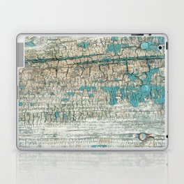 Rustic Wood Turquoise Weathered Paint Wood Grain Laptop & iPad Skin