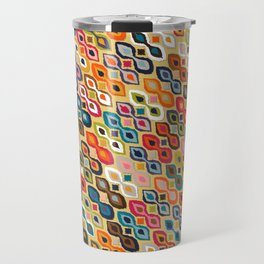 carnival ikat yellow Travel Mug