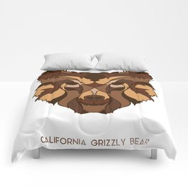 California Grizzly Bear Comforters