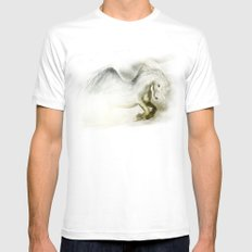 Pegasus SMALL White Mens Fitted Tee