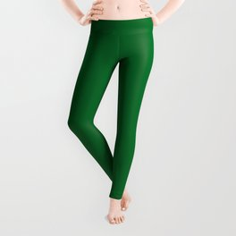 Medium Emerald / Grass Green - Autumn / Fall / Winter - Block Colours - Nature / Trees Leggings