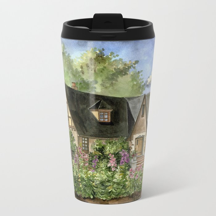 Tudor House on Kentucky Avenue Metal Travel Mug