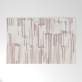 Simply Bamboo Brushstroke Lunar Gray on Clay Pink Welcome Mat