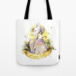 the boy behind the fox face mask Tote Bag