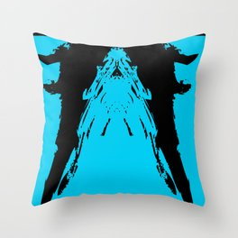 Palace in the Negative Throw Pillow