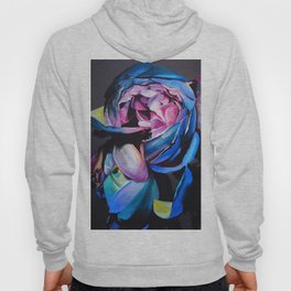 Rose chalk drawing Hoody