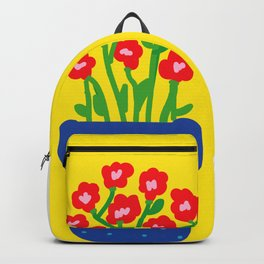 Flowers and pot Backpack