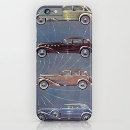 1935 Esquire New Year Car Preview No. 3: Duesenberg, Hupmobile, La Salle, Graham, Hudson, Lafayette iPhone Case