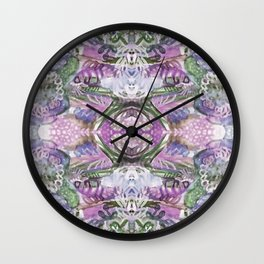 Lavender Eyes Wall Clock