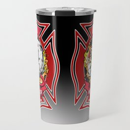 Kitchener East Side Hose & Ladder RED CREST Travel Mug