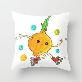 Skipping Onion Throw Pillow