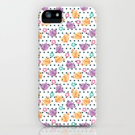 Freely Birds Flying - Fly Away Version 2 - Ocean Dots Color iPhone Case