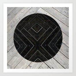 Black Kiss Art Print