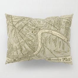 Vintage Map of New Orleans Louisiana (1919) Pillow Sham