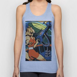 Comic Girl - 5 Pop Unisex Tank Top