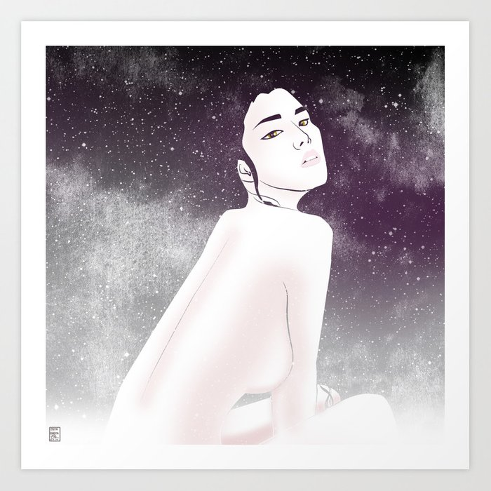 She is Luminous Art Print