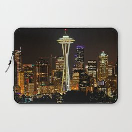 Seattle Space Needle & Cityscape Laptop Sleeve