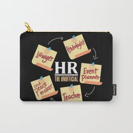 HR The Unofficial Lawyer Psychologist Event Planner Teacher Carry-All Pouch