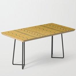 Moroccan Stripe in Mustard Yellow Coffee Table