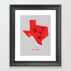Happy Texas Framed Art Print