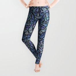 blue Hera butterflies aflutter Leggings