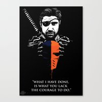 deathstroke Canvas Prints featuring What I Have Done by Spicy Monocle
