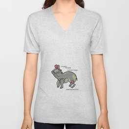 Hungry-Hungry Zombie Hippo Unisex V-Neck
