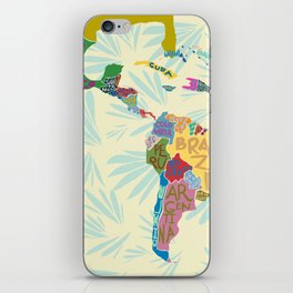 Map. Mapa. Carte. iPhone Skin